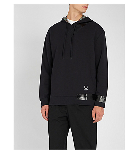 FRED PERRY Logo tape cotton-jersey hoody
