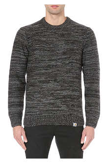 CARHARTT Striped knitted jumper