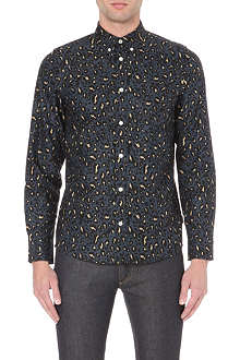 CARHARTT Flemming leopard-print cotton shirt