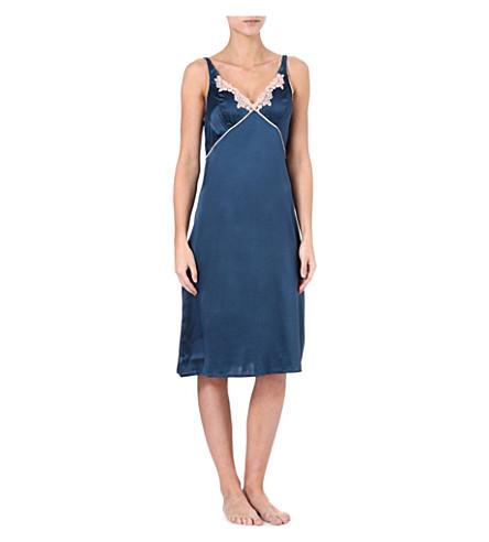 ELLE MACPHERSON INTIMATES Casablanca chemise (Insignia blue/cameo rose