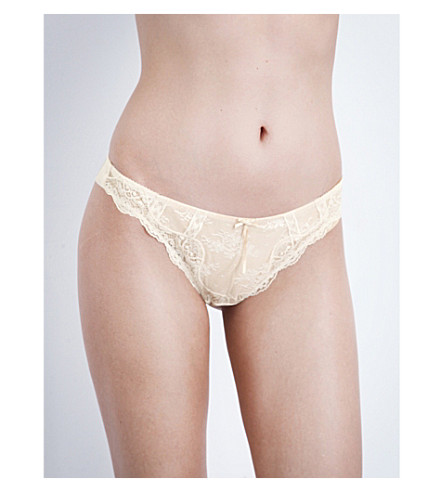 HEIDI KLUM INTIMATES Heidi lace thong (Dew/+cream+tan