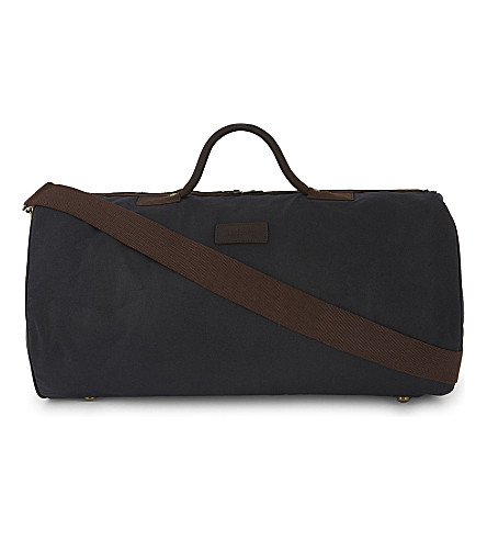 BARBOUR Waxed cotton holdall (Navy