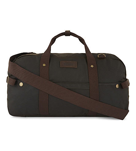 BARBOUR Gamefair waxed cotton holdall (Olive