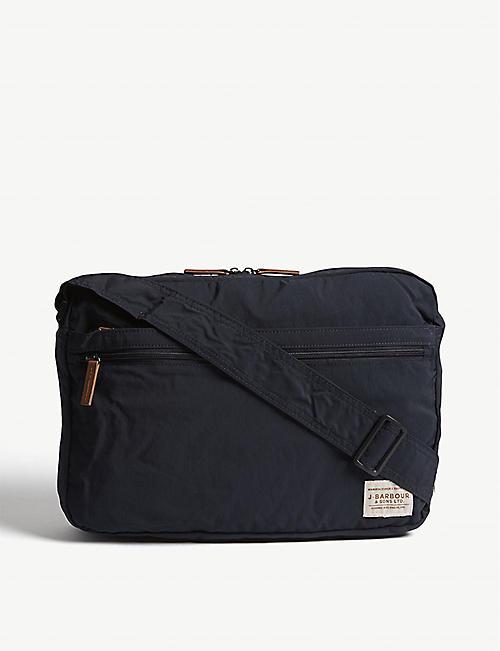 BARBOUR Packaway nylon messenger bag