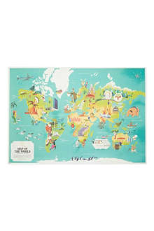 MONOCLE World map poster