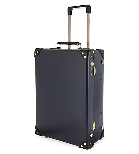 GLOBE-TROTTER Moneypenny 18'' two-wheeled trolley suitcase (Navy/black