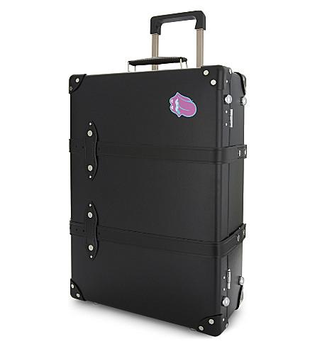 GLOBE-TROTTER Rolling Stones logo print two wheel trolley case 55cm (Rolling+stones