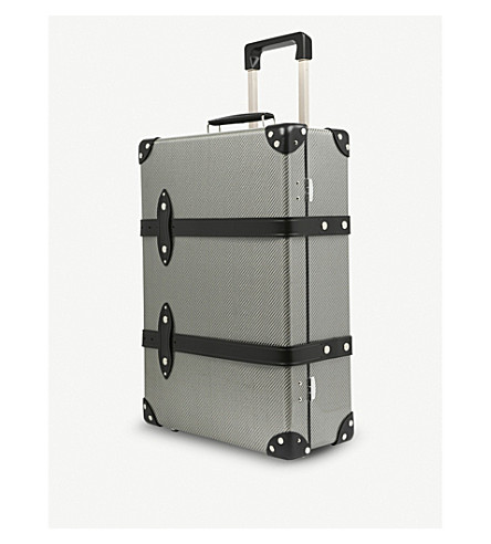 GLOBE-TROTTER The 120 carbon fibre trolley case (Silver/black