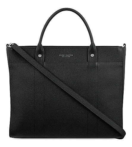 GLOBE-TROTTER Jet Collection small tote (Black