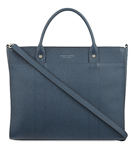 GLOBE-TROTTER Jet small tote (Navy