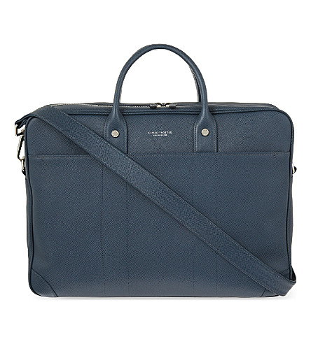 GLOBE-TROTTER Jet large briefcase (Navy