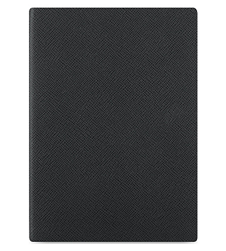 GLOBE-TROTTER Jet ruled A5 journal (Black