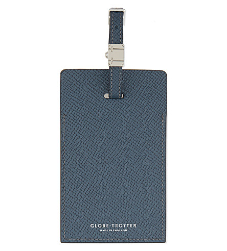 GLOBE-TROTTER Jet Collection large luggage tag (Navy