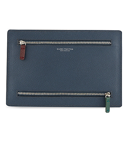 GLOBE-TROTTER Jet Collection currency wallet (Navy