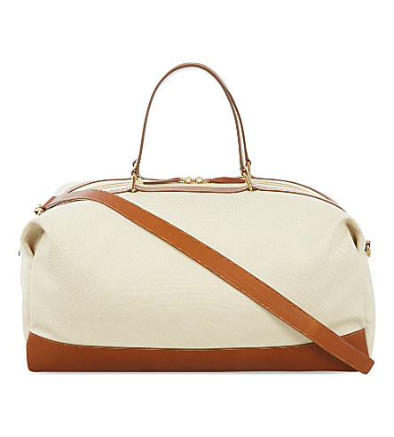GLOBE-TROTTER Propellor weekend bag (Tan