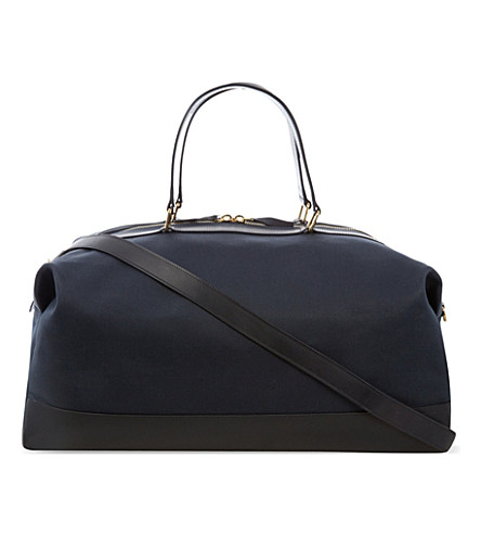 GLOBE-TROTTER Propellor weekend bag (Navy