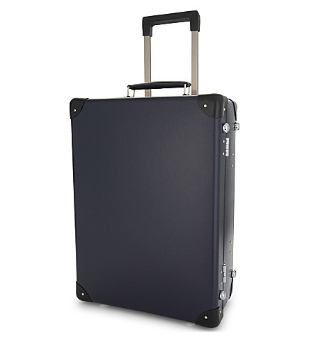 GLOBE-TROTTER Original two wheel trolley case 53cm (Navy+and+black