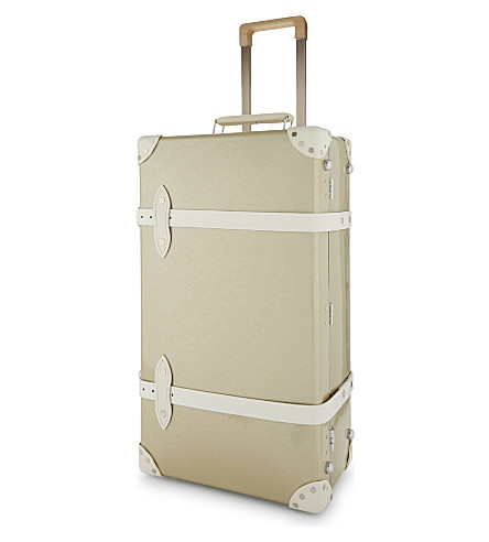 "GLOBE-TROTTER 26"" metallic trolley suitcase (Champagne"