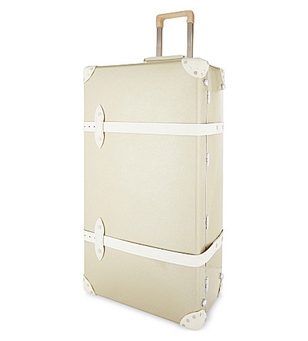 "GLOBE-TROTTER 30"" metallic trolley suitcase (Champagne"