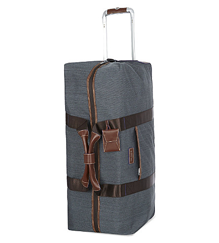 TED BAKER Two-wheel large trolley duffle bag (Gry