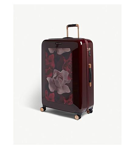 TED BAKER Take Flight Porcelain Rose large four-wheel suitcase 80cm (Burgundy