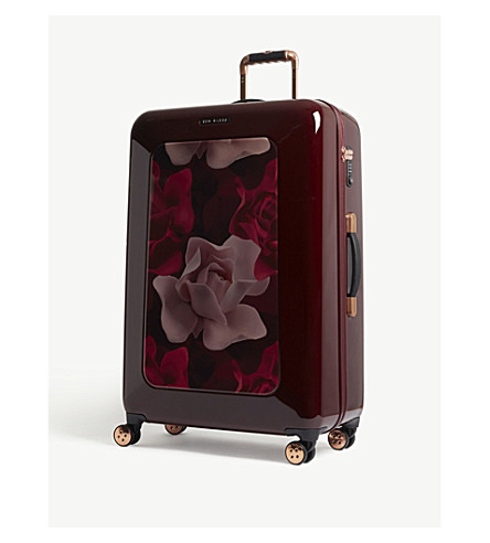 TED BAKER Take Flight four-wheel suitcase 80cm (Burgundy