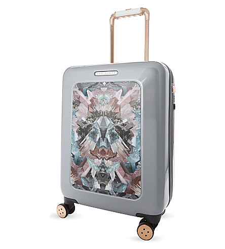 TED BAKER Mirrored minerals four wheel suitcase 54cm (Silver