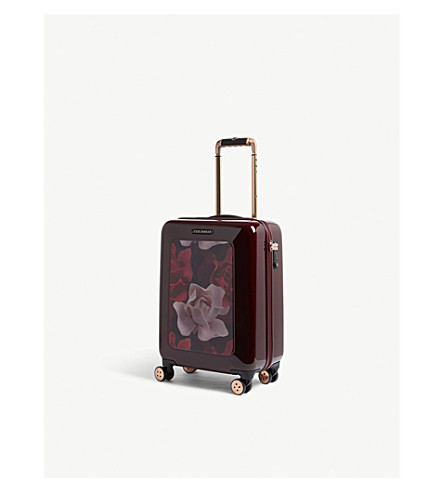 TED BAKER Four-wheel cabin suitcase (Burgundy