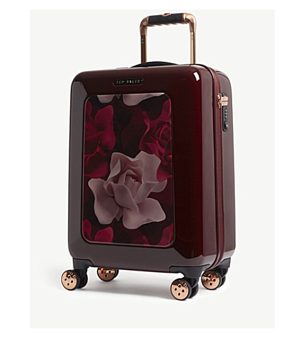 TED BAKER Take Flight four-wheel cabin suitcase 54cm (Burgundy