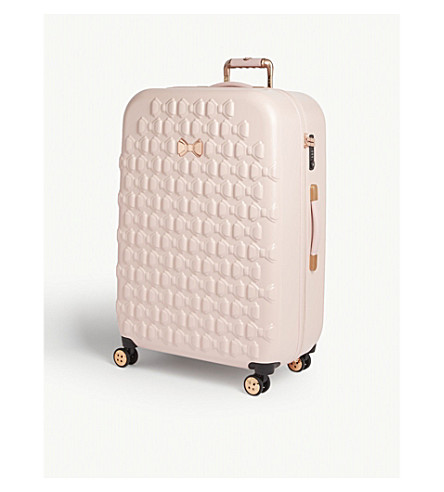 TED BAKER Embossed bow large spinner case (Pink