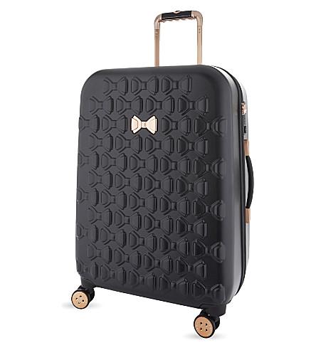 TED BAKER Beau medium four-wheel suitcase 68cm (Black
