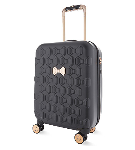 TED BAKER Mould bow four-wheel spinner suitcase (Black