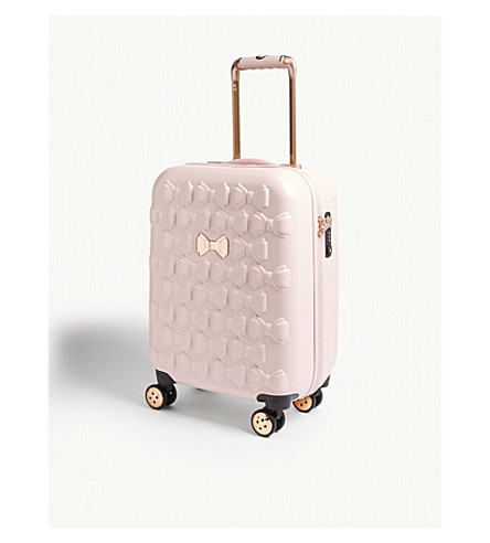TED BAKER Mould bow four-wheel spinner suitcase (Pink
