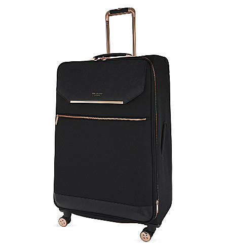 TED BAKER Albany large four-wheel suitcase 82cm (Black