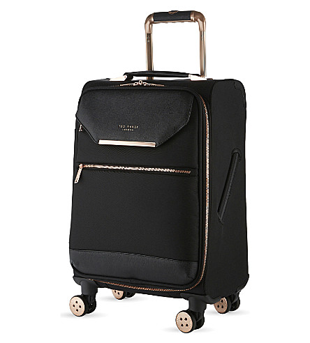 TED BAKER Albany four-wheel cabin suitcase 55cm (Black