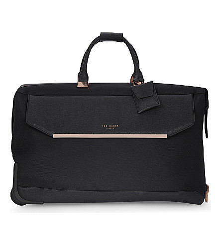 TED BAKER Albany nylon two-wheel holdall 56.5cm (Black