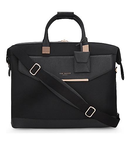 TED BAKER Albany nylon duffel bag (Black