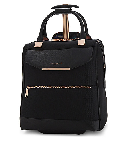 TED BAKER Two-wheel business case 40cm (Black