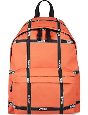 MOSCHINO Ribbon grid backpack