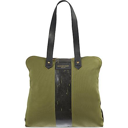 RICHARD JAMES Clifford canvas bag (Olive/black