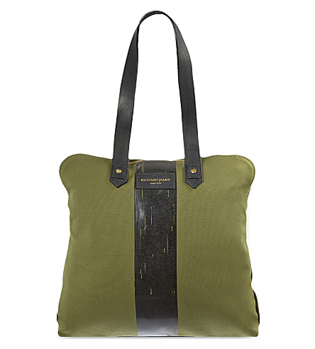RICHARD JAMES Clifford canvas bag (Olive/black