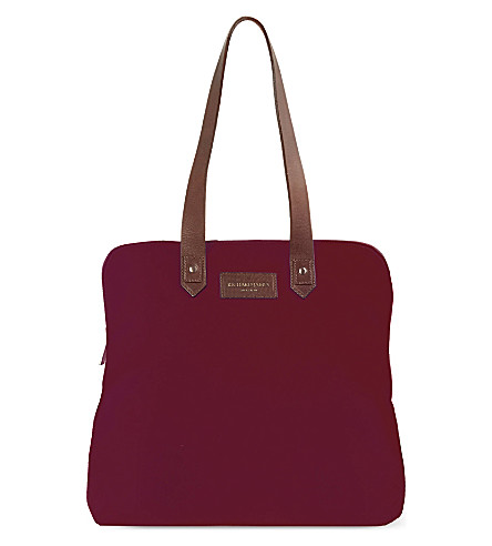 RICHARD JAMES Clifford Broadcloth bag (Cherry/brown