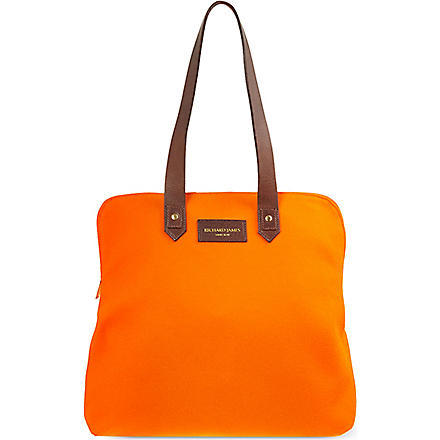 RICHARD JAMES Clifford Broadcloth bag (Orange/brown