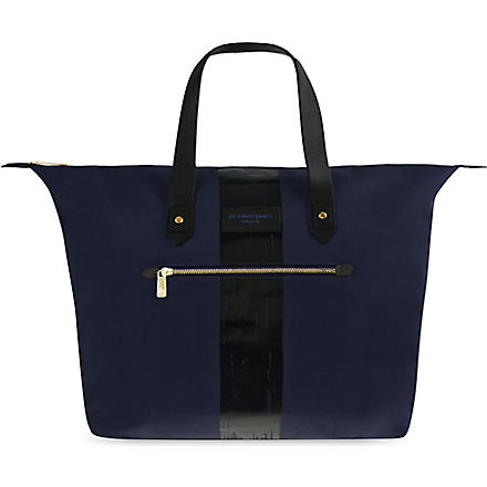 RICHARD JAMES Curzon canvas bag (Navy