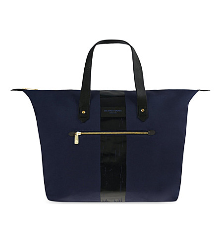 RICHARD JAMES Curzon canvas bag (Navy