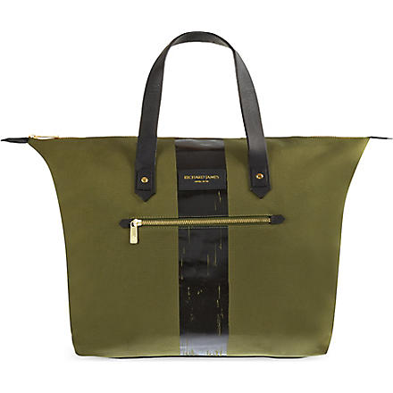 RICHARD JAMES Curzon canvas bag (Olive