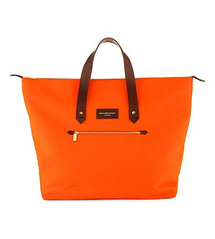 RICHARD JAMES Curzon broadcloth shoulder bag (Orange/brown