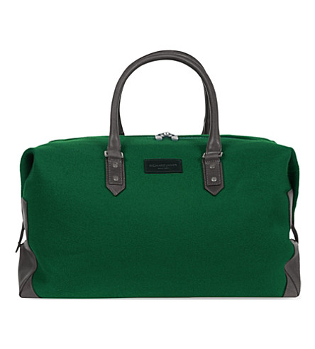 RICHARD JAMES Brook broadcloth holdall (Ranger green/black