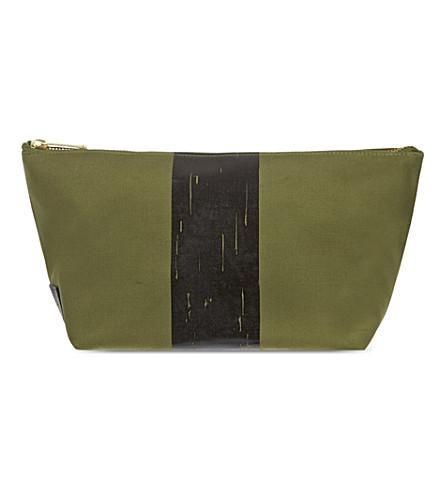 RICHARD JAMES Molton Canvas pouch (Olive