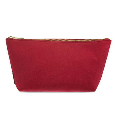 RICHARD JAMES Molton Broadcloth pouch (Cherry/brown